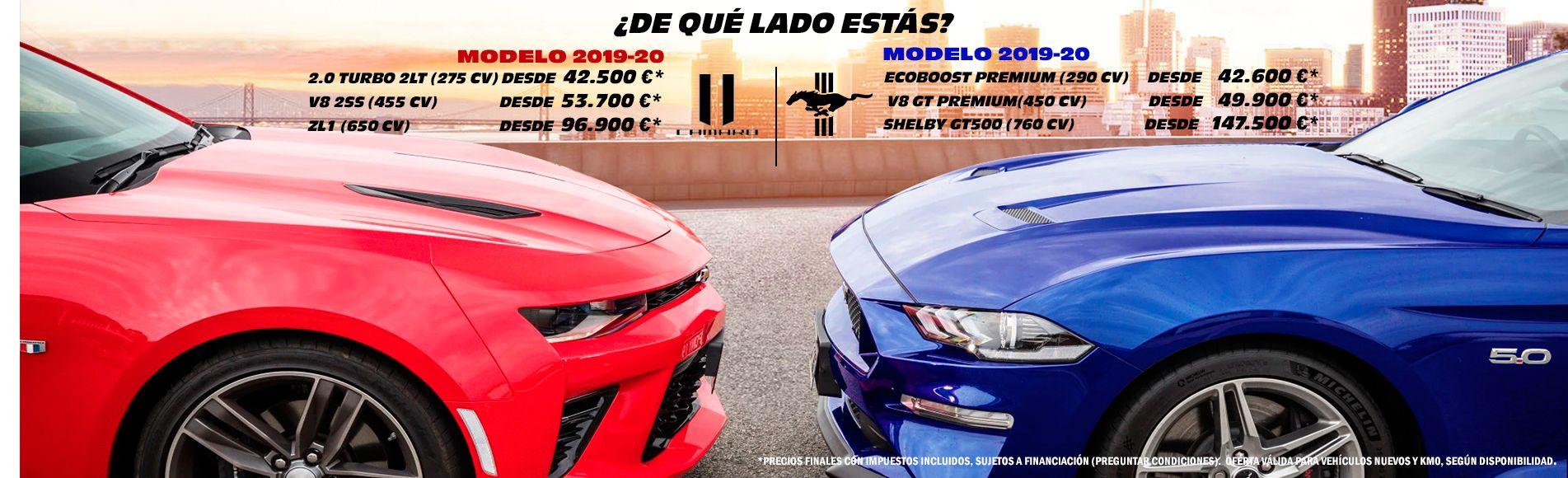 concesionario de coches americanos precio mustang camaro españa oferta oficial garantia importacion