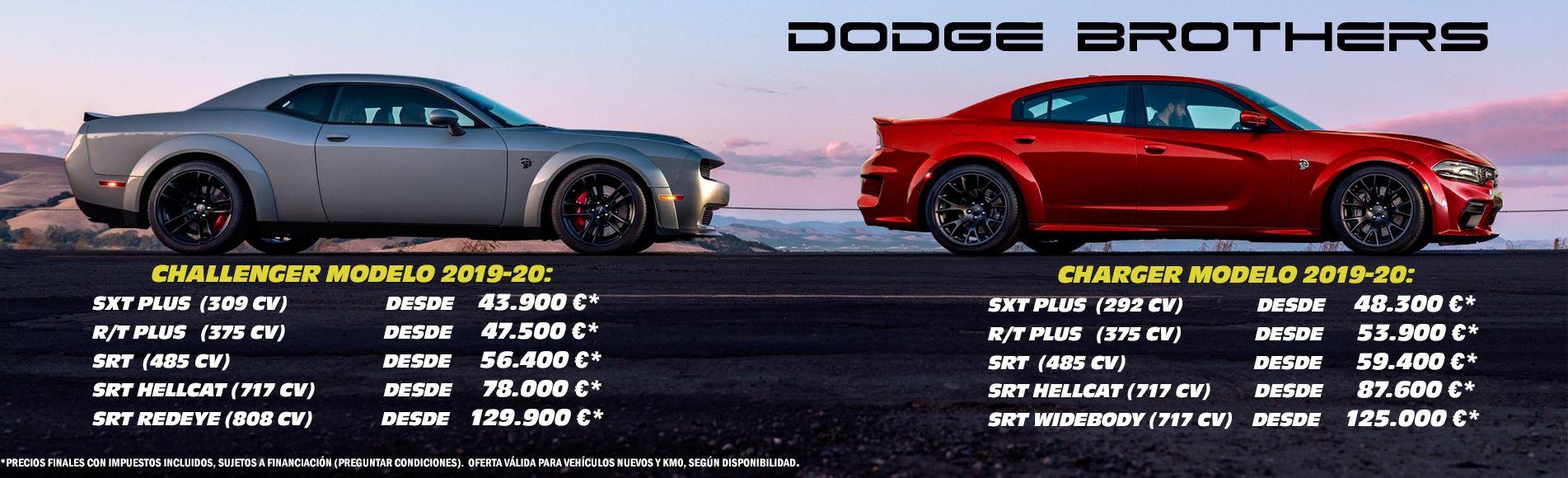 concesionario de vehiculos americanos dodge challenger charger oficial precio españa oferta km0